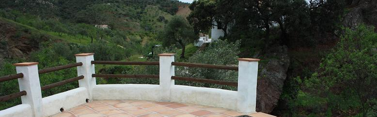 Our two restored old Andalusian cottages at an organic farm near Almogía