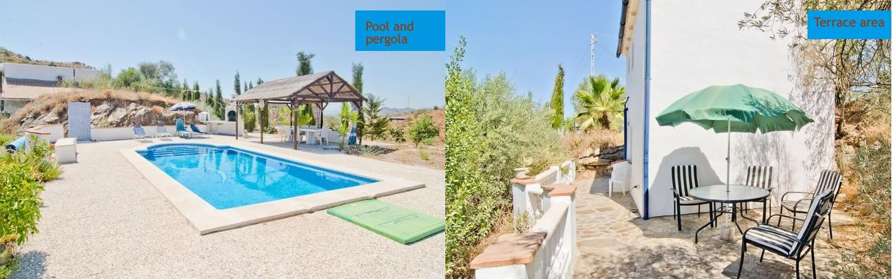 Our great duplex cottage with pool located on a beautiful finca near Almogía