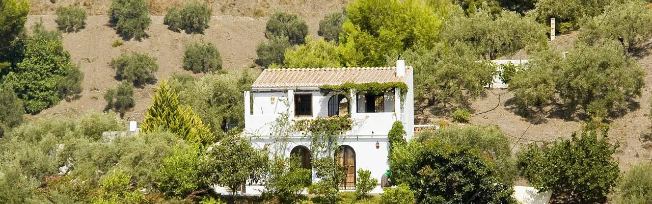 Our cosy old little farmhouse in an olive grove outside Frigiliana with great views to the sea