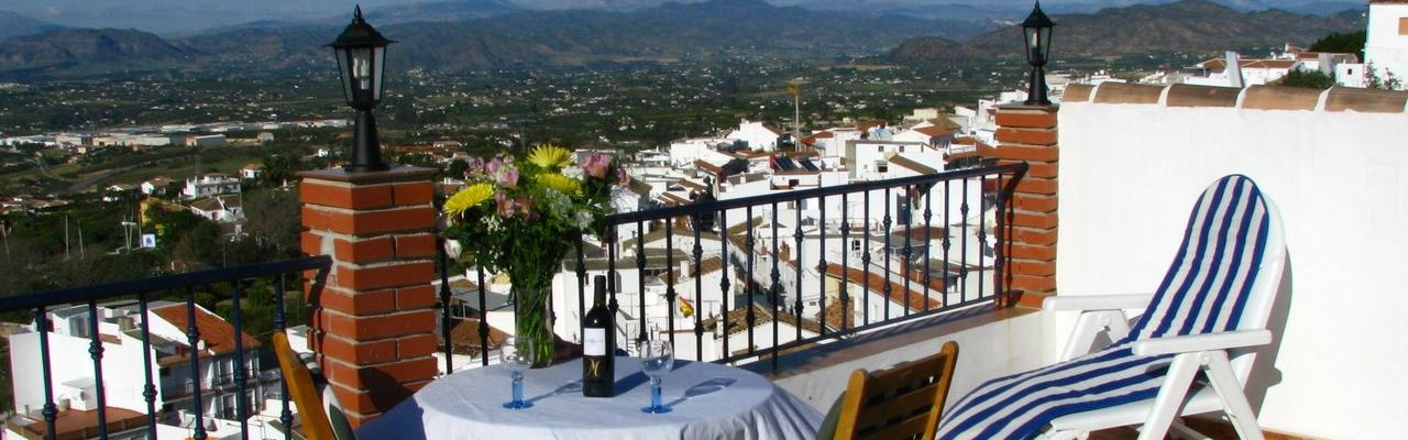 Our very nice village house in the whitewashed Andalusian village of Alhaurin El Grande in the Guadalhorce valley