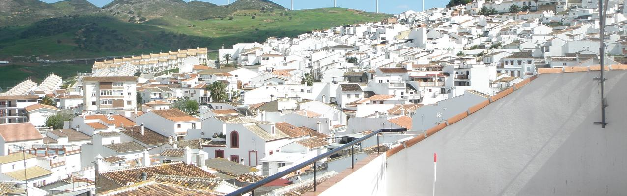 Whitewashed Andalusian village houses